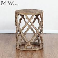 Quatrefoil Table L China Reclaimed Wood Quatrefoil Accent End Table Manufacturers