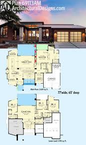 modern home design 4000 square feet plan 69113am ultra contemporary knockout modern house plans