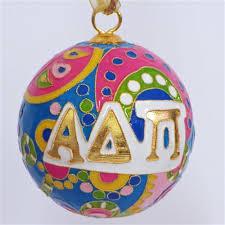 alpha delta pi psychedelic cloisonne ornament