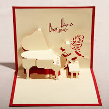 red u0026 blue handmade 3d pop up birthday greeting cards with piano