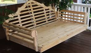 porch swings for winter the charming bench company
