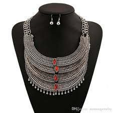 crystal choker necklace set images 2018 fashion silver chunky statement crystal choker necklace and jpg