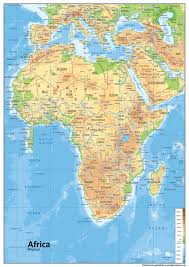 africa map physical africa physical map tiger moon