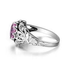 wedding ring lure silver lure pink tourmaline october birthstone