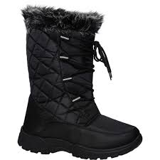big w s boots emerson snowy boots black big w