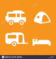 camping and caravan design concept ai 10 supported stock vector