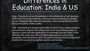 a comparison and contrast with us education ppt download