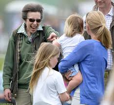 princess anne princess anne keeps granddaughter mia entertained daily mail online