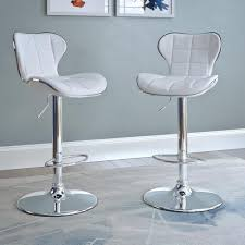 white leather swivel bar stools corliving adjustable height white bonded leather swivel bar stool