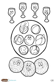 passover seder book this coloring page has it all four cups of wine three pieces of