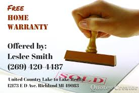 Home Warranty by Free Home Warranty United Country Michigan Lifestyle Properties