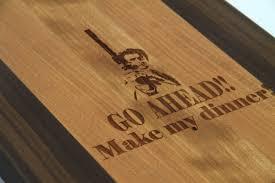 handcrafted wood cutting board paddle board cherry u0026 laser