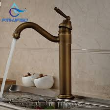 robinet cuisine antique bronze pivotant bec navire évier mitigeur cuisine robinet
