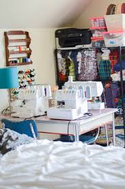 sewing in a small shared space sewing room tour if only they