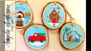 wooden christmas ornaments acrylic painting tutorial gingerbread