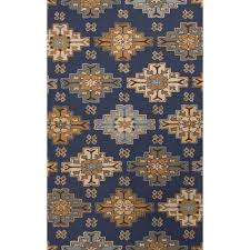 Cheap Tribal Rugs Jaipur Rugs Transitional Tribal Pattern Blue Taupe Wool Area Rug