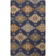 jaipur rugs transitional tribal pattern blue taupe wool area rug