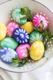 flower easter eggs freutcake