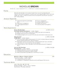 Sample Resume For Job Fair by Resume Resume Setup Example