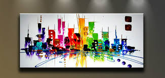 canvas home decor with framed panel oil painting on canvas wall