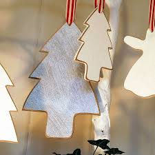handmade wooden decorations lights card and
