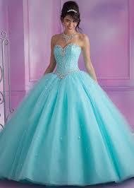 quinceanera dresses aqua vizcaya 89017 aqua strapless beaded quinceanera gown rissyroos