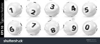 lottery number balls black white balls stock vector 485696461