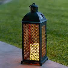 bougie marocaine photophore grande lanterne solaire marocaine en métal avec bougie led pour