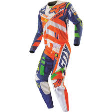 motocross jersey lettering fox racing 2016 360 divizion jersey and pant package orange blue