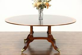 Antique Mahogany Dining Room Set by Sold Round 6 U0027 Sunburst Banded Vintage Mahogany Dining Table