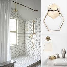 brass bathroom hardware that is affordable popsugar home