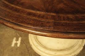 54 round table pad round country wood table and painted pedestal base for kitchen