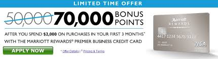 No Credit Business Credit Card Marriott Business Credit Card 70000