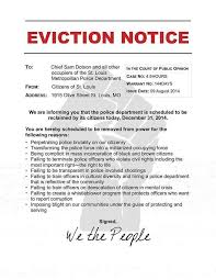 sle eviction notice maine protesters storm st louis police headquarters with eviction notice