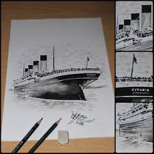 titanic pencil drawing by blaze by blazeovsky on deviantart