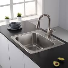 Faucet Sink Kitchen Other Kitchen Inch Topmount Single Bowl Stainless Steel