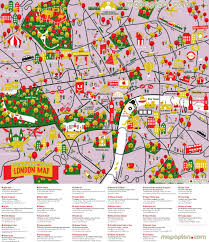 Chicago Attractions Map by Maps Update 16001127 Tourist Map Of London U2013 London Maps Top