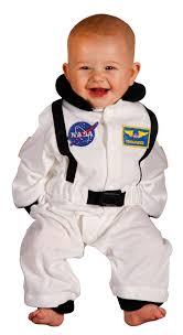 aeromax jr astronaut suit with nasa patches and diaper snaps