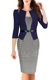royal blue false 2 in 1 3 4 sleeve polyester midi dress midi