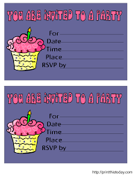 printable birthday invitation cards for kids choice image