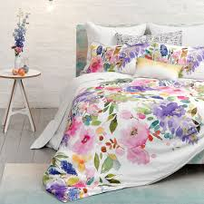 wisteria duvet floral watercolour bedding bluebellgray