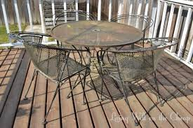 How To Restore Metal Outdoor Furniture by Restoring Rusty Outdoor Furniture Living Well On The Cheap