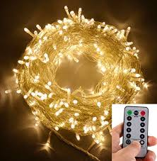 dimmable outdoor led string light echosari 100 leds outdoor led fairy string lights battery operated