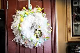 chic diy feather easter wreath in only 30 minutes