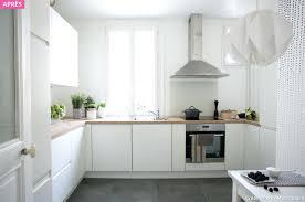 cuisine blanche et plan de travail bois cuisine blanche plan de travail bois cuisine blanc avec plan