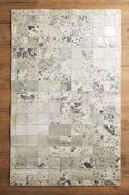 metallic patchwork hide rug swatch anthropologie