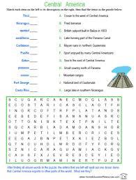 central america worksheets worksheets