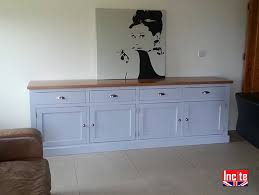 handmade solid oak and painted sideboard by incite derby