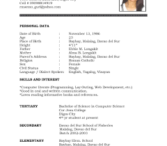 resume format word document resume sle format for ojt information technology students