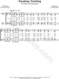 alfred burt caroling caroling satb choir a cappella choral